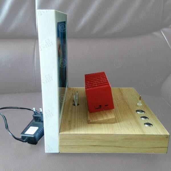 木紋紙L型桌面亞加力展示座