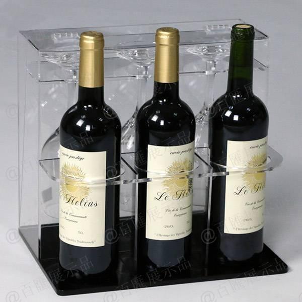 紅酒及杯子套裝亞加力膠架-紅酒
