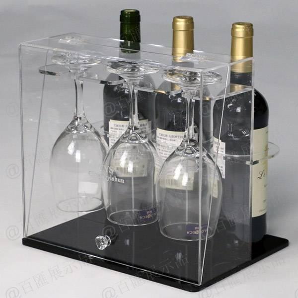 紅酒及杯子套裝亞加力膠架-產品展示