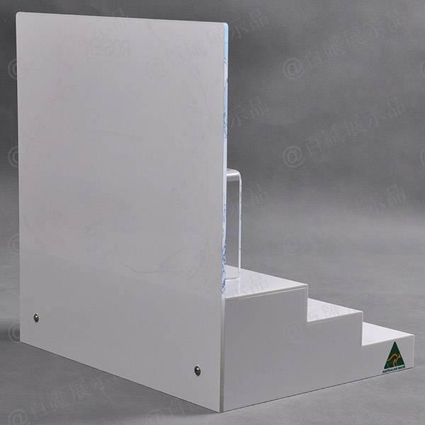 梯級形背板可拆化妝品亞加力膠架-背面