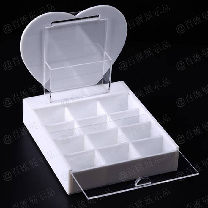 白色亞加力珠寶展示托-正面