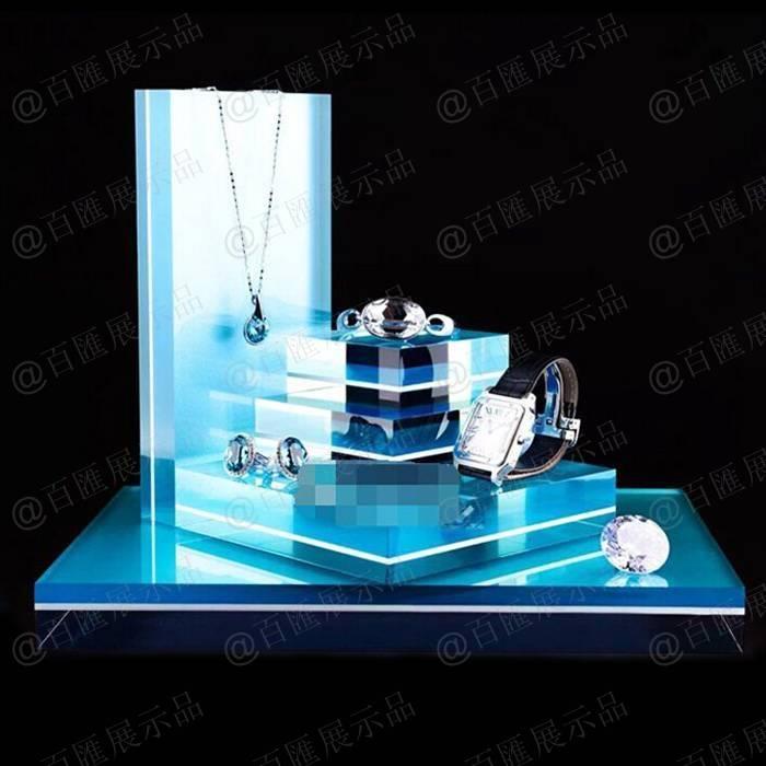 亞加力膠珠寶陳列道具-藍色