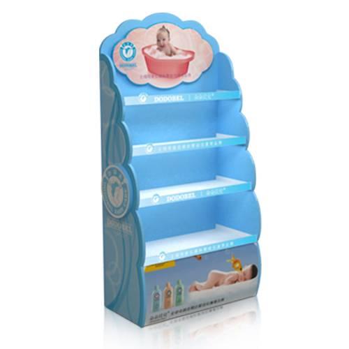 寶寶洗澡液木質陳列櫃-左側