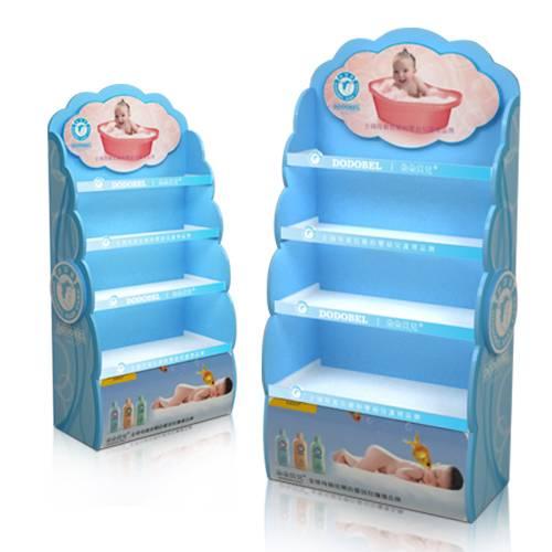 寶寶洗澡液木質陳列櫃-成品圖
