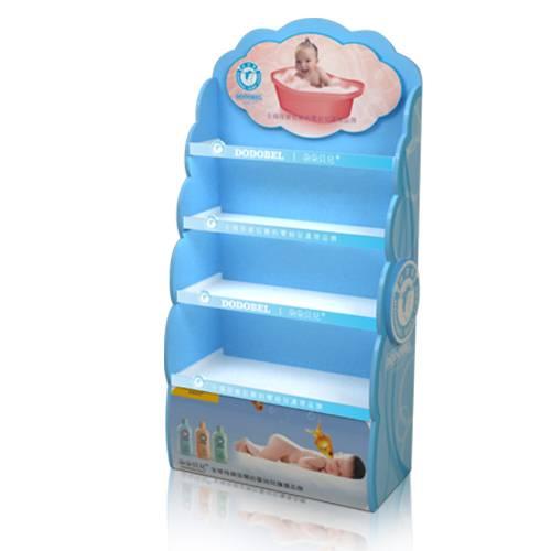 寶寶洗澡液木質陳列櫃-右側