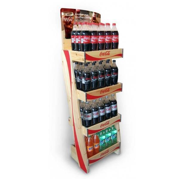 可口可樂飲料陳列木架