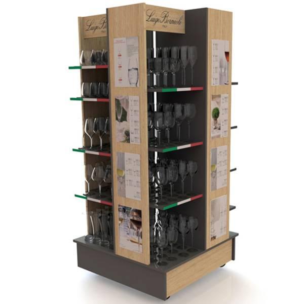 四面展示可移動式陳列木櫃