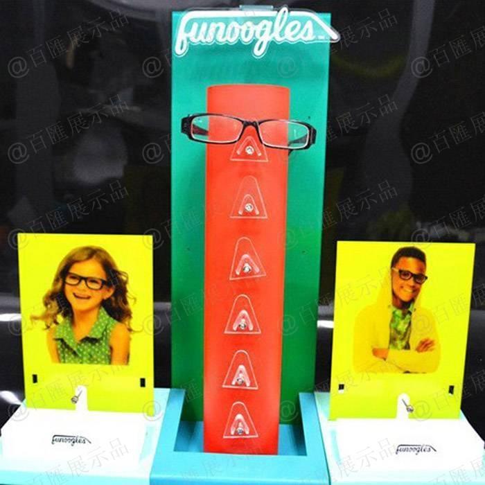 兒童眼鏡形象亞加力展示架-正面