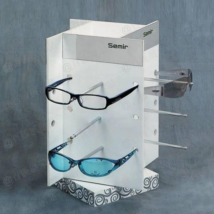 旋轉式四面眼鏡展示亞加力膠架