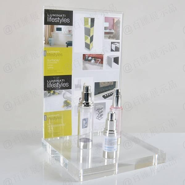 背板可攝紙透明亞加力膠架-攝紙效果