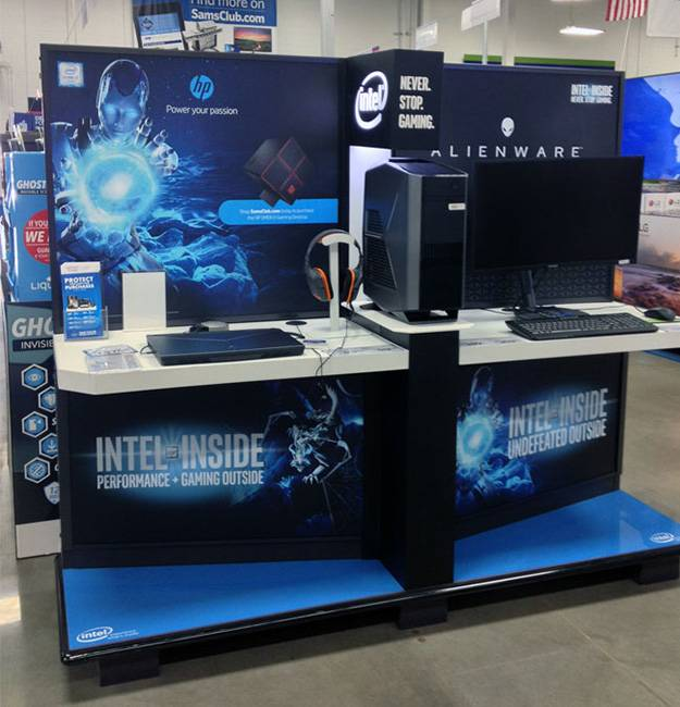 電子數碼體驗大型陳列木櫃