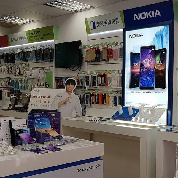 諾基亞 Nokia賣場發光展示架