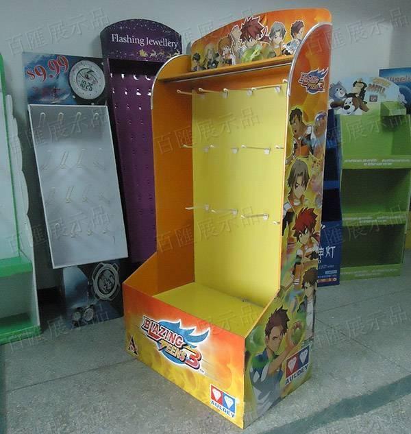 動漫玩具掛鉤紙類展示架-右側