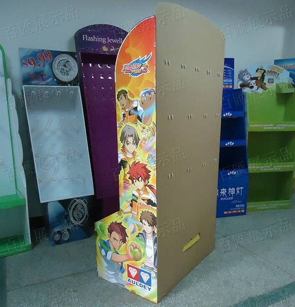 動漫玩具掛鉤紙類展示架-背面