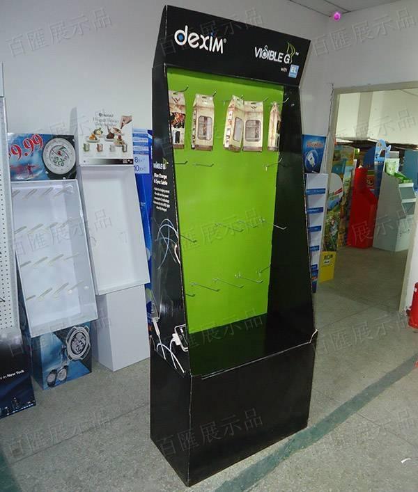 手機配件掛鉤紙品展示架-左側