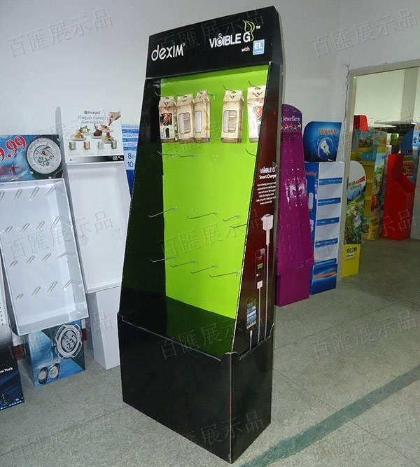 手機配件掛鉤紙品展示架-右側