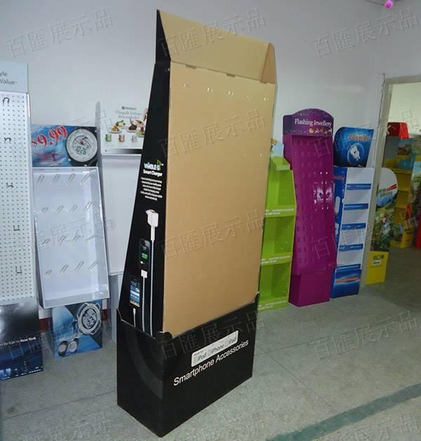 手機配件掛鉤紙品展示架-背面