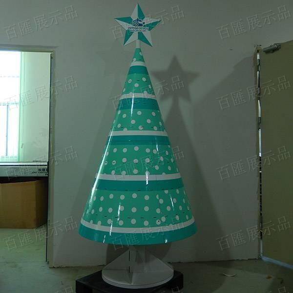 聖誕樹形掛鉤式禮品展示架-彩色