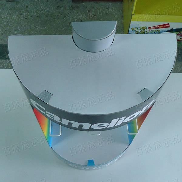 半圓電池造型掛鉤式桌面展示架-頂部