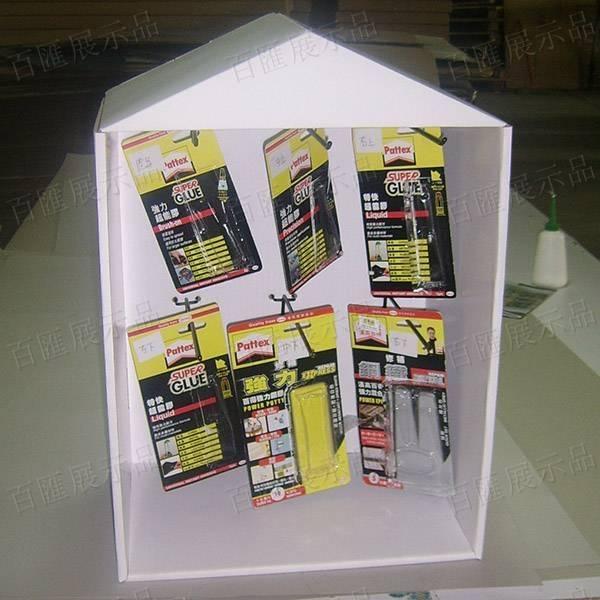 房子造型金屬掛鉤紙展示架-懸掛產品