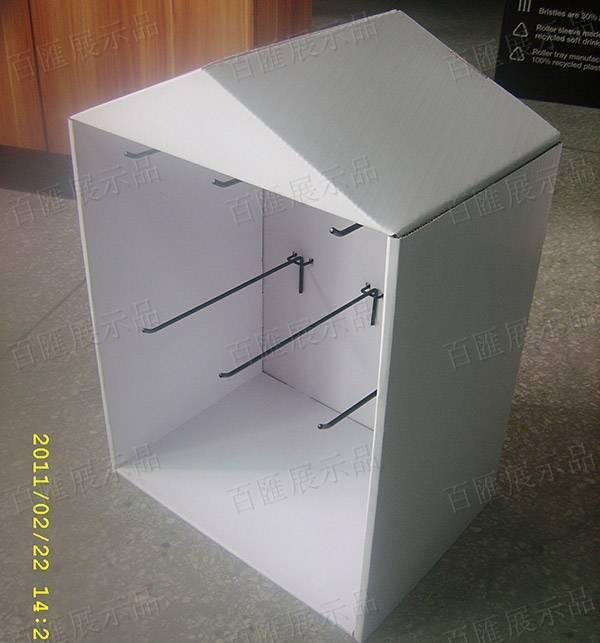 房子造型金屬掛鉤紙展示架-右側