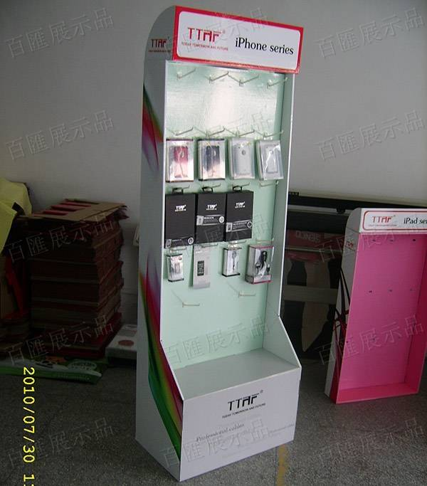 手機外殼掛鉤紙製陳列架-產品展示
