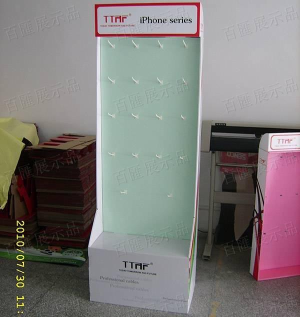 手機外殼掛鉤紙製陳列架-正面