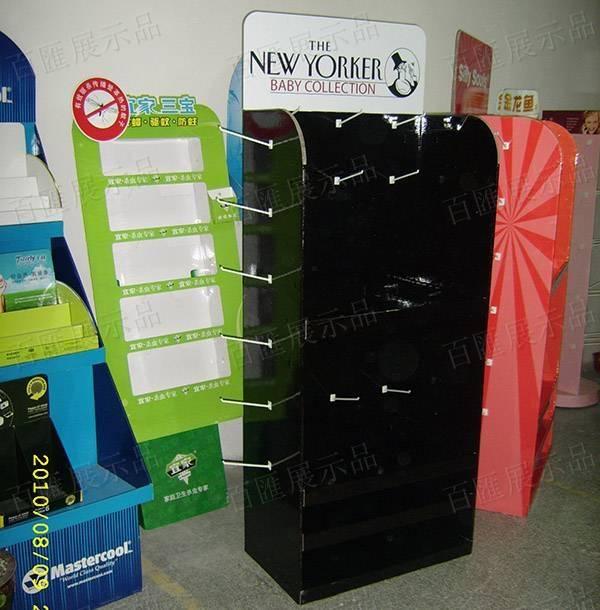 塑膠掛鉤黑色紙質展示架-成品