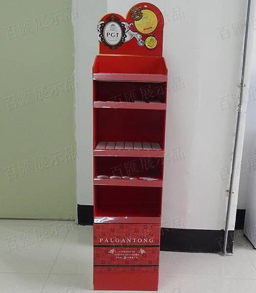 Palgantong化妝品陳列紙架-正面