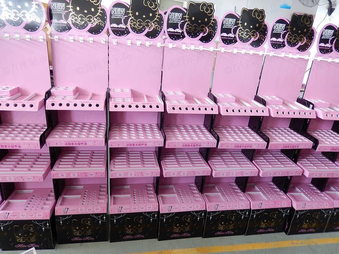 Hello Kitty 莎莎化妝品紙質陳列架