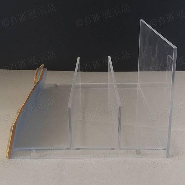 水晶面膜反貼圖亞加力展示架-側面