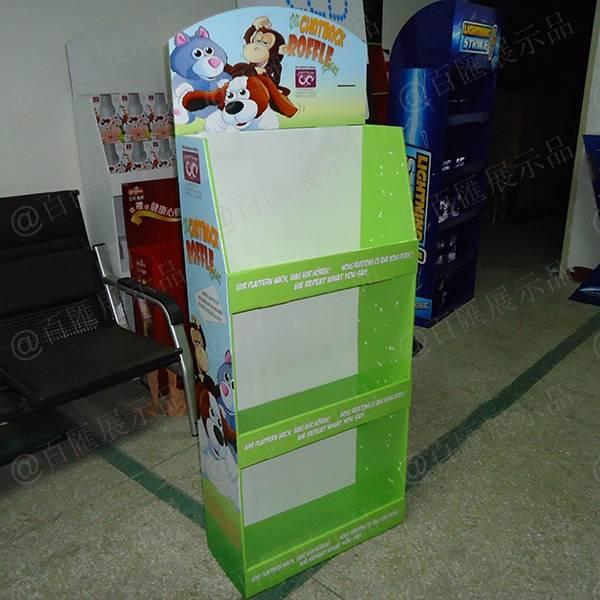 公仔玩具紙質展示架-左側