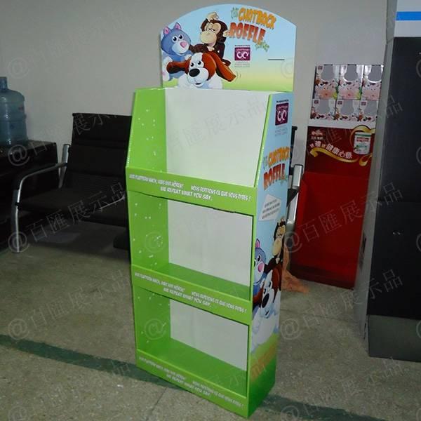 公仔玩具紙質展示架-右側面