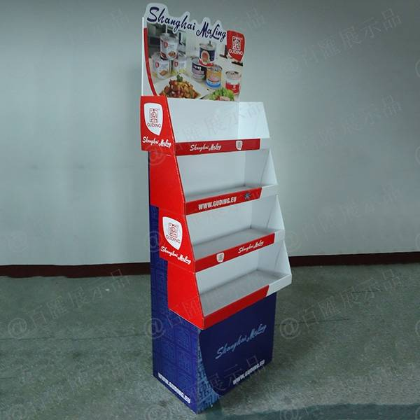 罐頭醬食品紙質展示架-左