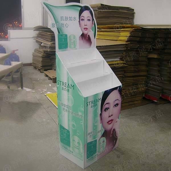 泉之潤面膜紙品展示架-左側