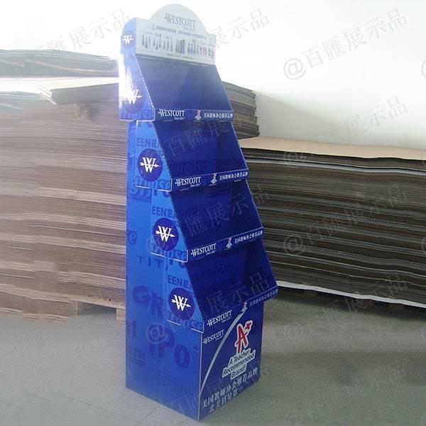 文具用品紙陳列架-左側