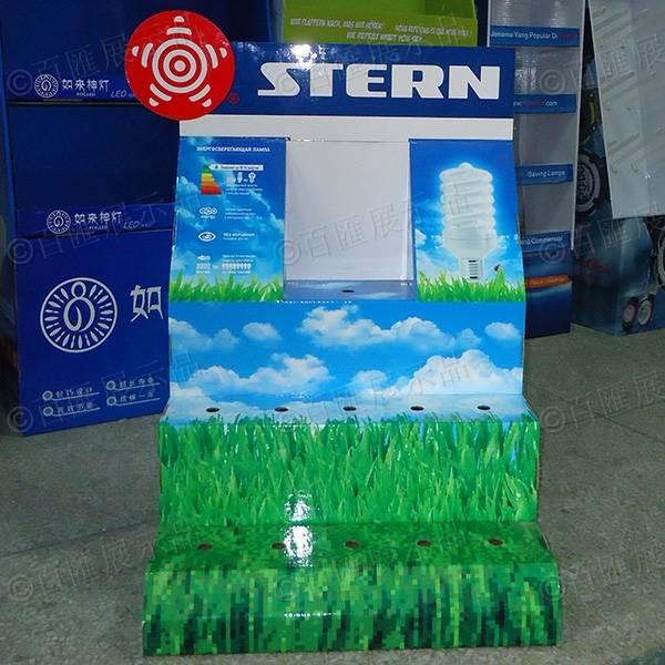 綠色節能環保LED燈紙展示台-正面