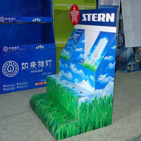 綠色節能環保LED燈紙展示台-右側