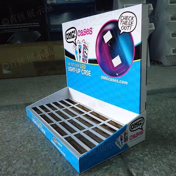 手機保護殼瓦楞紙展示盒-右側