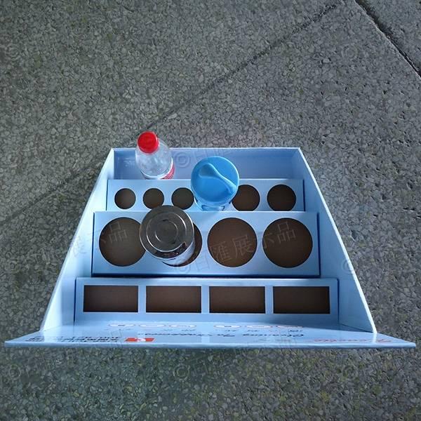 笑人清潔用品分層式PDQ紙展示盒-俯視圖