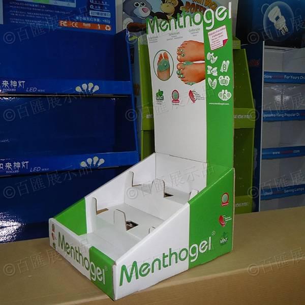 腳足除菌產品PDQ紙製陳列盒-右側