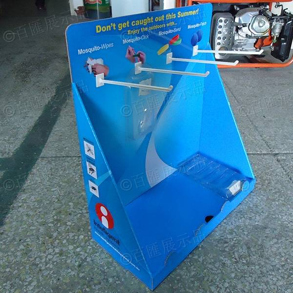 掛鉤式PDQ紙展示盒-左側