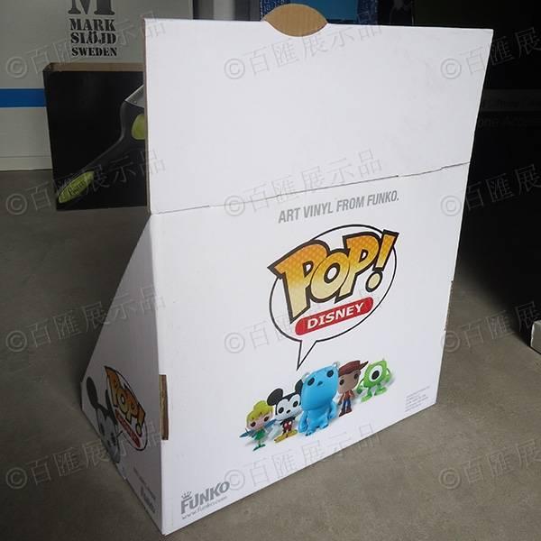 公仔玩具三層桌面瓦楞紙陳列盒-背面