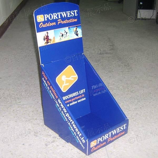 傾斜背桌面紙製展示盒-左側