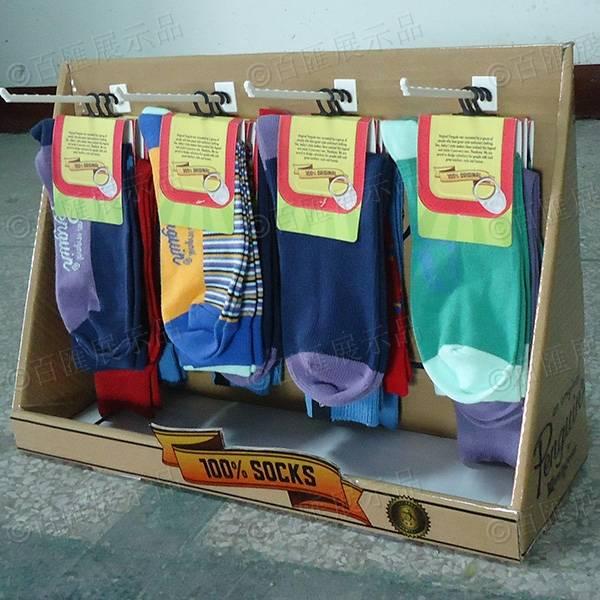 襪子掛鉤式桌面紙陳列台-右側