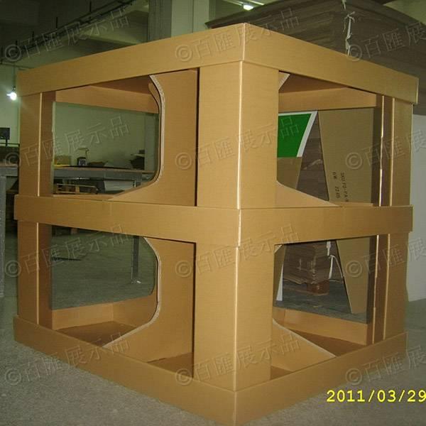 牛皮紙方形花托架-成品