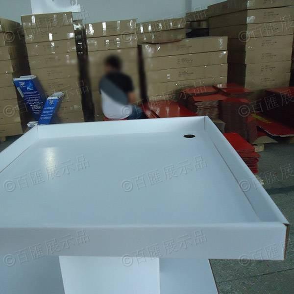 白色方形兩層間隔托架-托盤