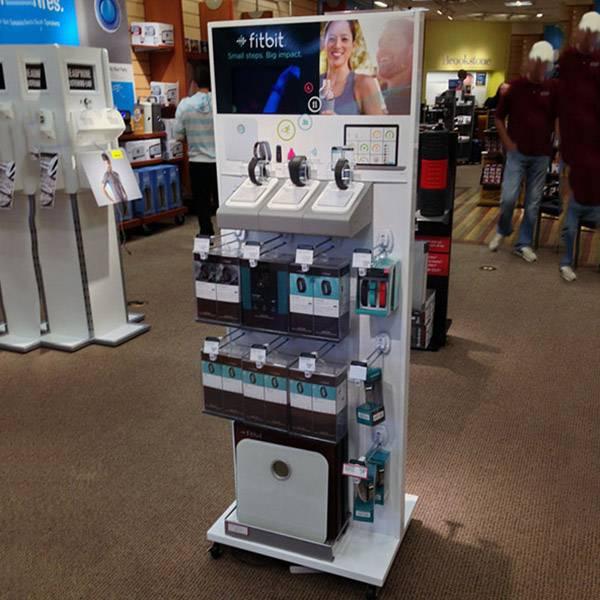 零售店鋪運動手錶體驗演示陳列木櫃