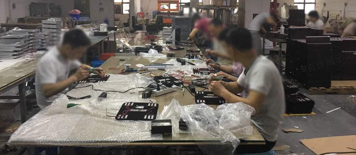 亞加力膠架生產製作現場