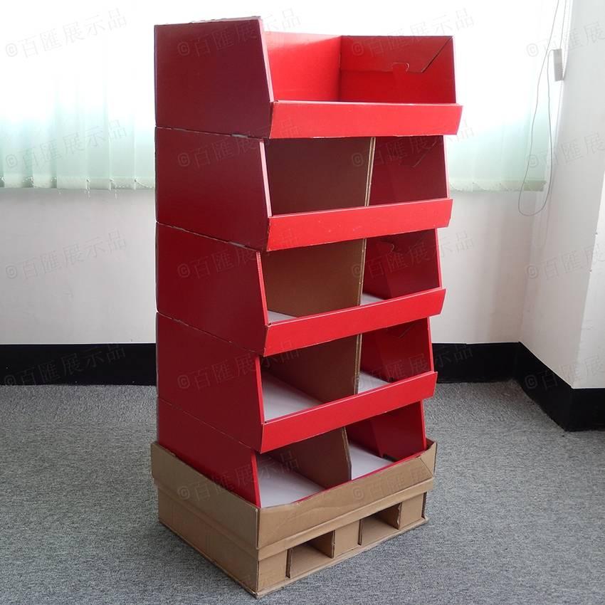 直立式帶卡板分層紙陳列架